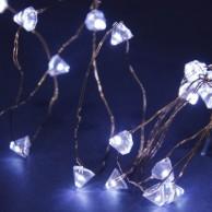 50 Solar Copper Wire Diamond Lights