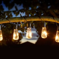 Solar Eureka Vintage Bulb Fairy Lights