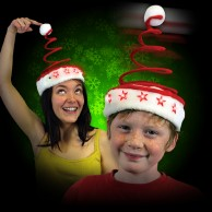 Light Up Springy Santa Hat