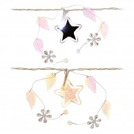 Star and Leaf Battery Operated Garland
