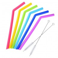 Neon Silicone Straws (6 pack)