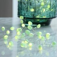 Battery Operated Teardrops Mint Light Chain