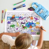 The Doodle Placemat To Go - Dinosaurs