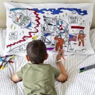 The Doodle Space Explorer Pillowcase