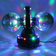 Twin Mirrorball with LEDs
