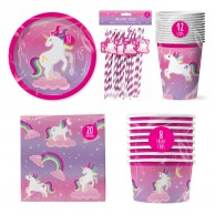 Unicorn Paper Tableware