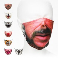 Washable & Funny Face Masks