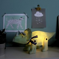 Wood Effect Triceratops Light