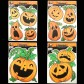 Glow Pumpkin Window Stickers