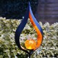 Solar Metal Flame Stake Light