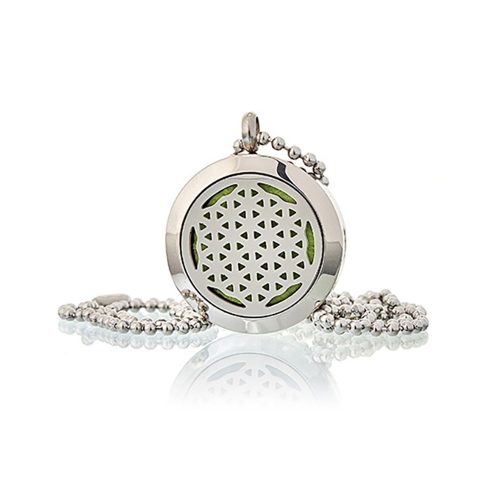 Diffuser Necklace Flower Of Life 25mm 02