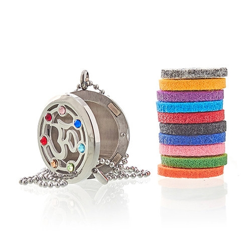 Click to view product details and reviews for Diffuser Necklace Om Chakra 30mm 19.