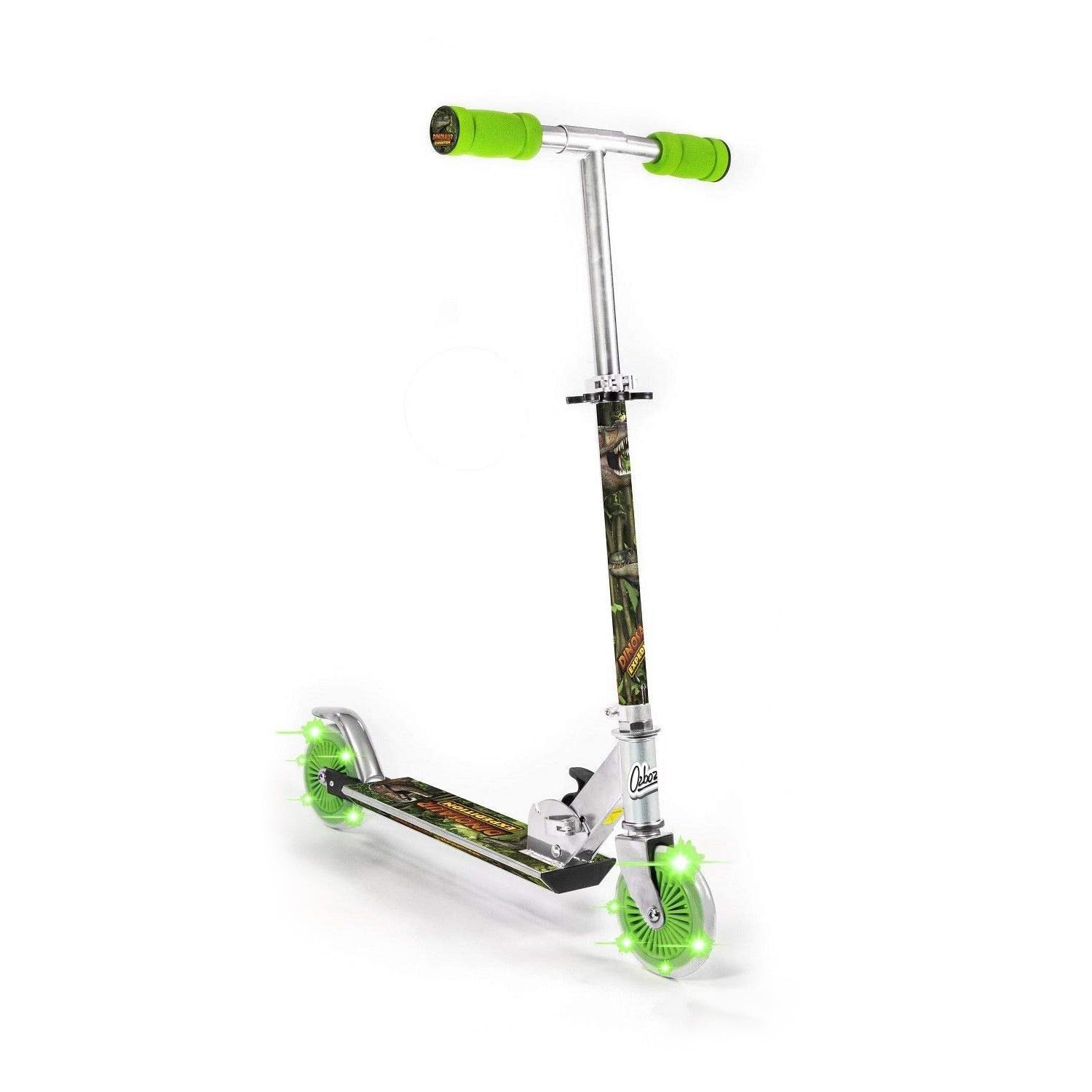 Click to view product details and reviews for Dinosaur Scooter With Light Up Wheels.