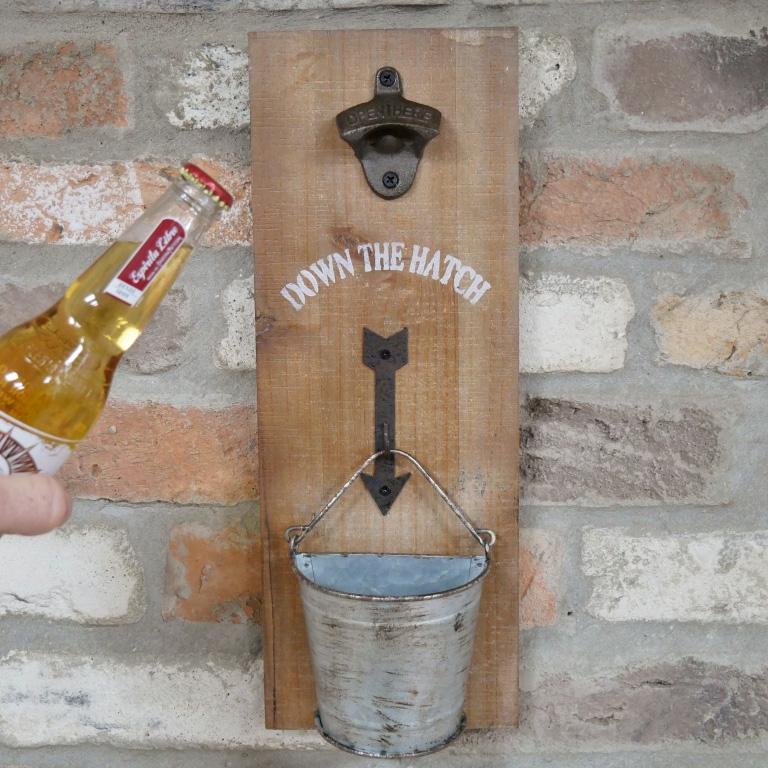 Down The Hatch Bottle Opener