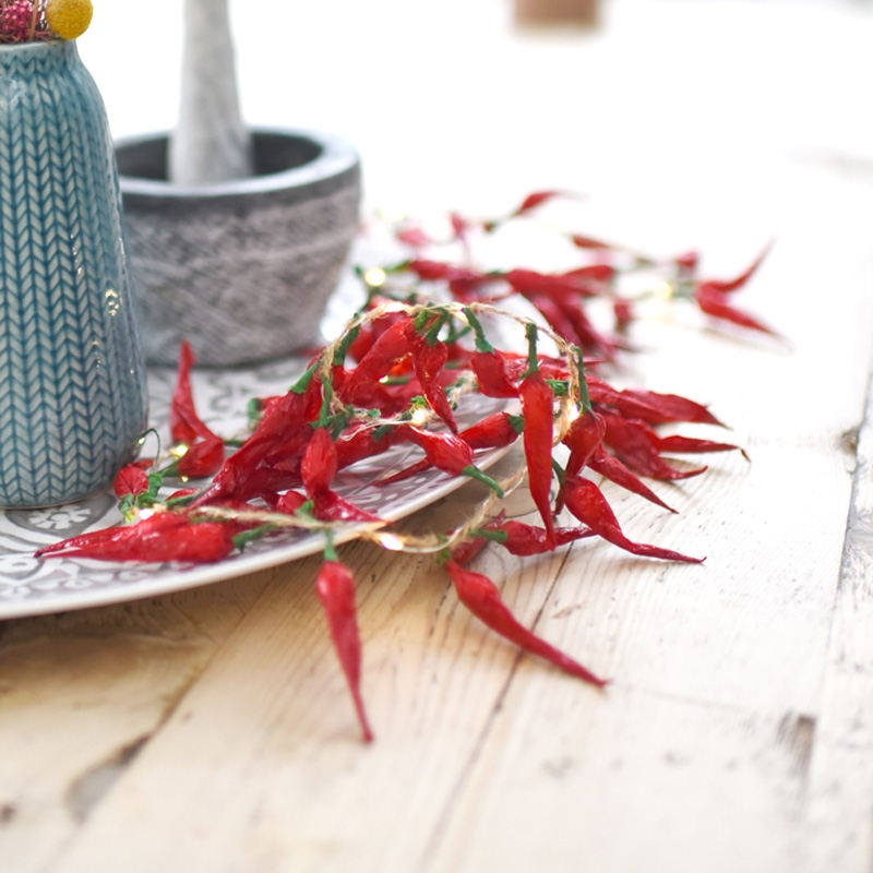 Click to view product details and reviews for Dried Chilli Pepper Fairy Lights.