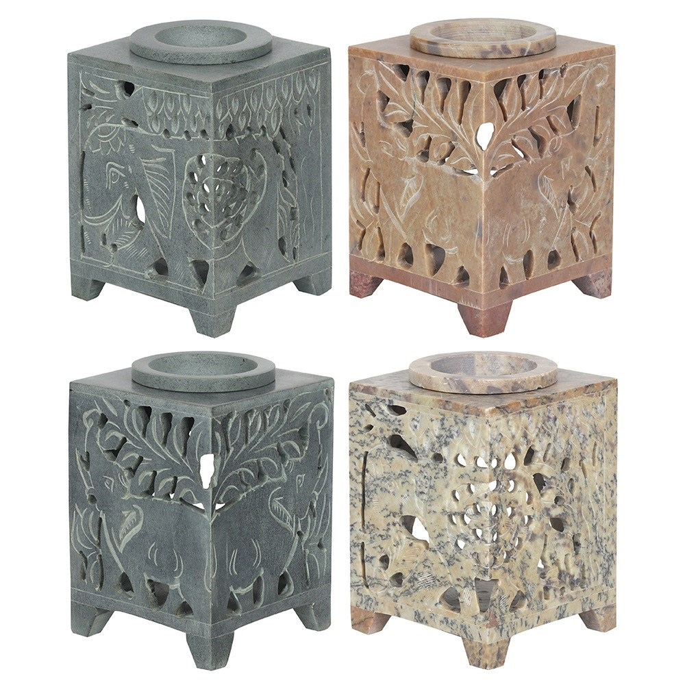 Click to view product details and reviews for Elephant Soapstone Oil Burner.