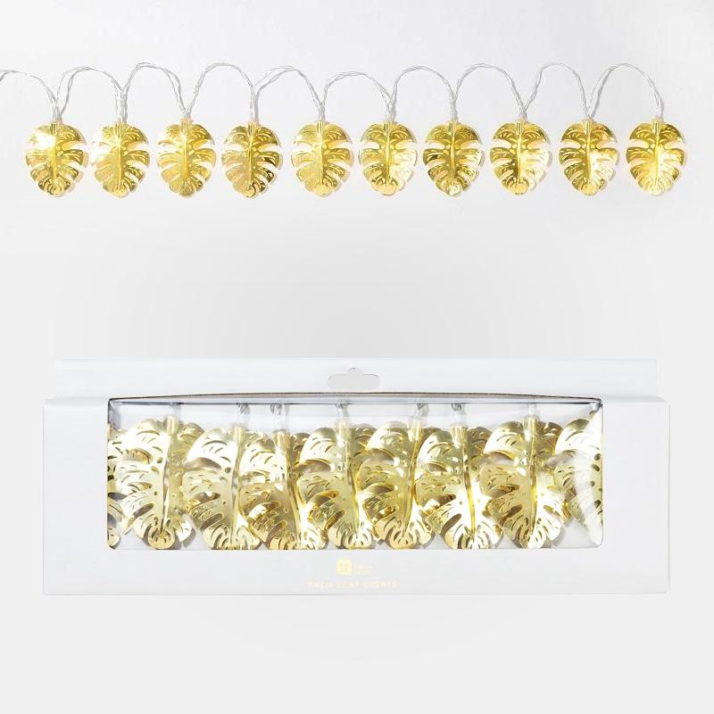 Gold Palm Leaf Fairy Lights