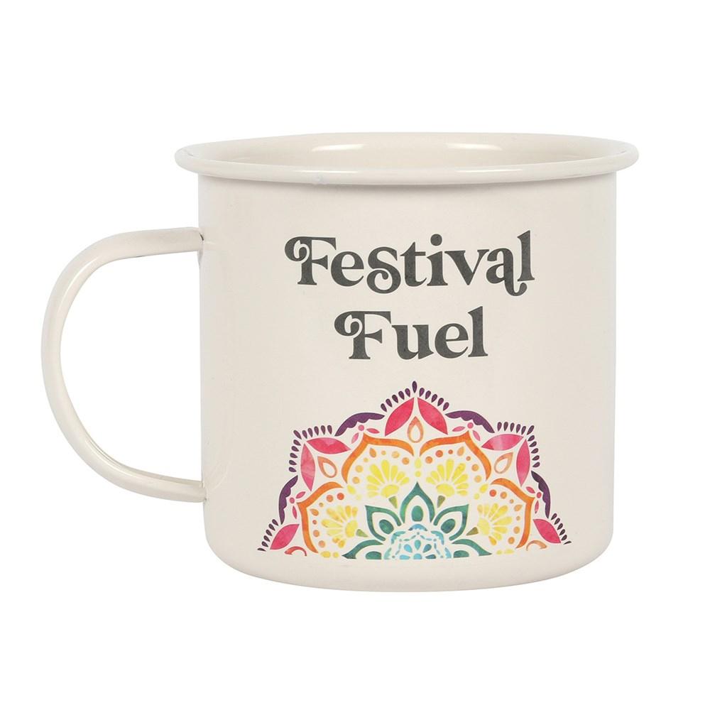 Click to view product details and reviews for Festival Fuel Mandala Enamel Mug.