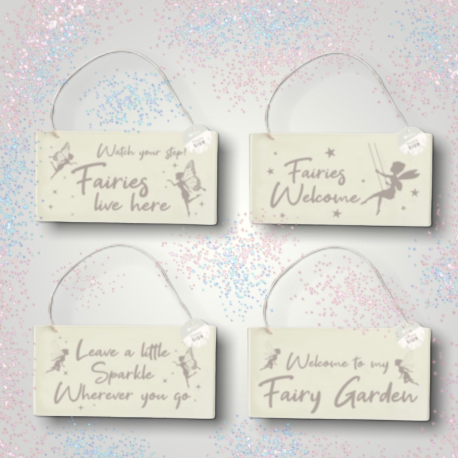 Click to view product details and reviews for Fairy Garden Metal Hanging Sign.