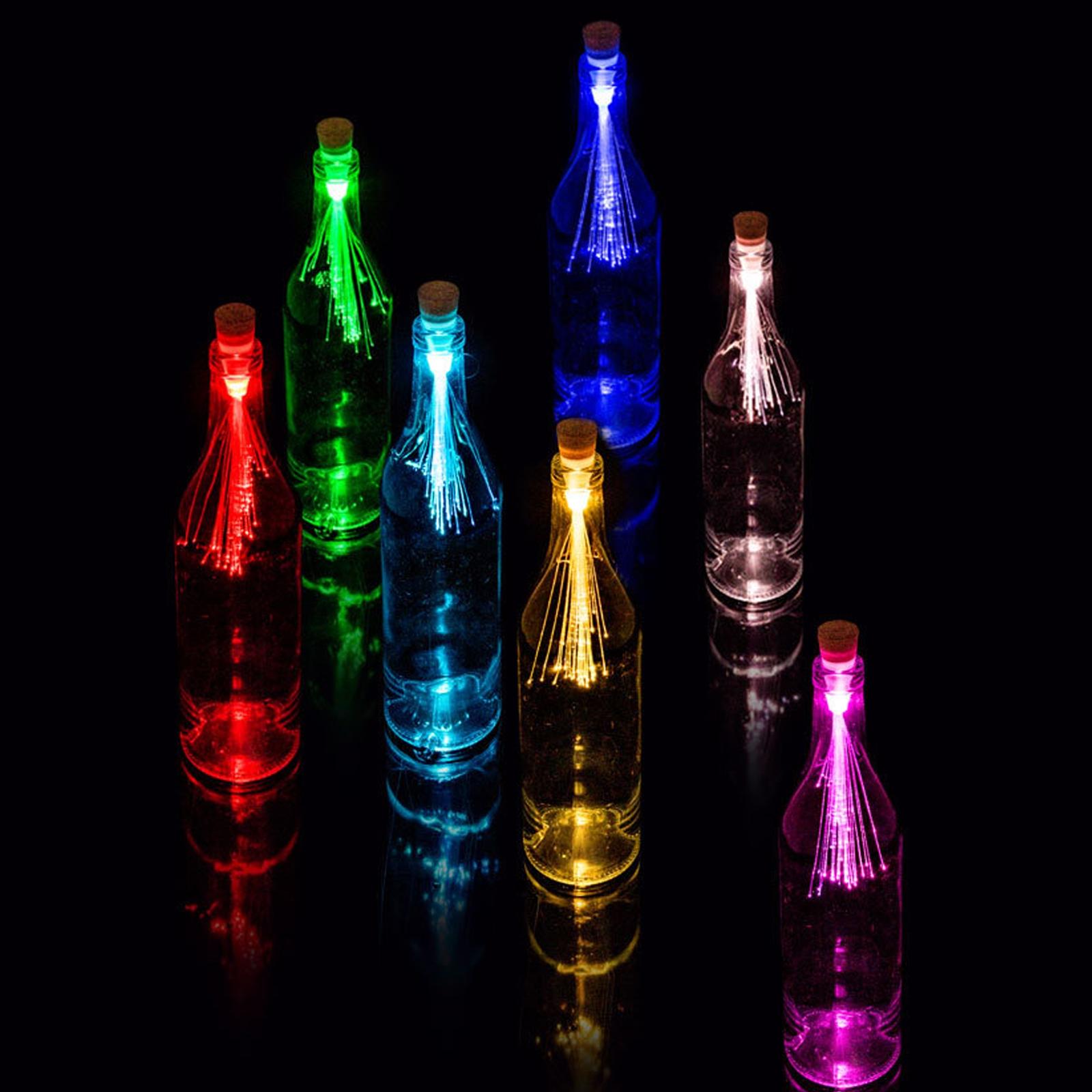 Colour Changing Fibre Optic Bottle Light