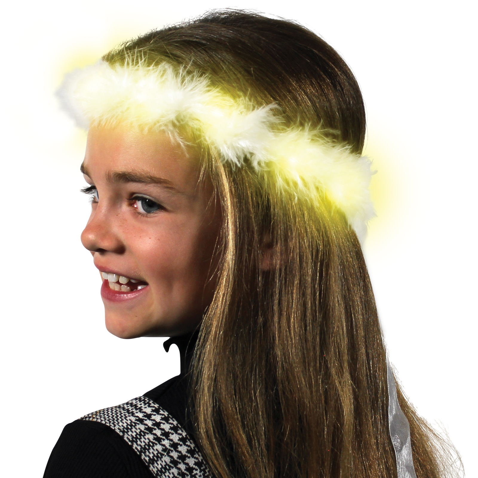 Click to view product details and reviews for Led Fluffy Garland With Ribbon.