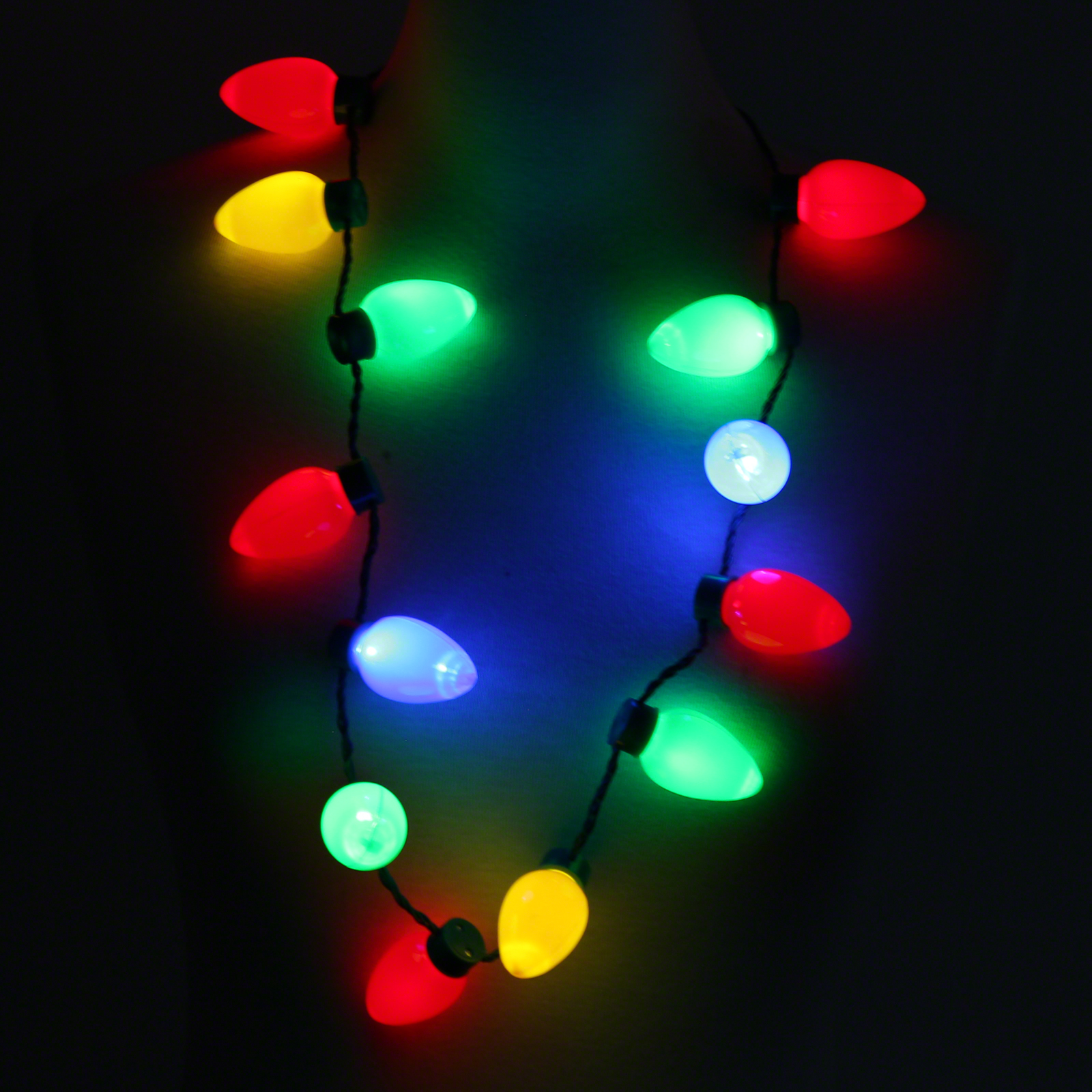 Click to view product details and reviews for Flashing Bulb Necklace.