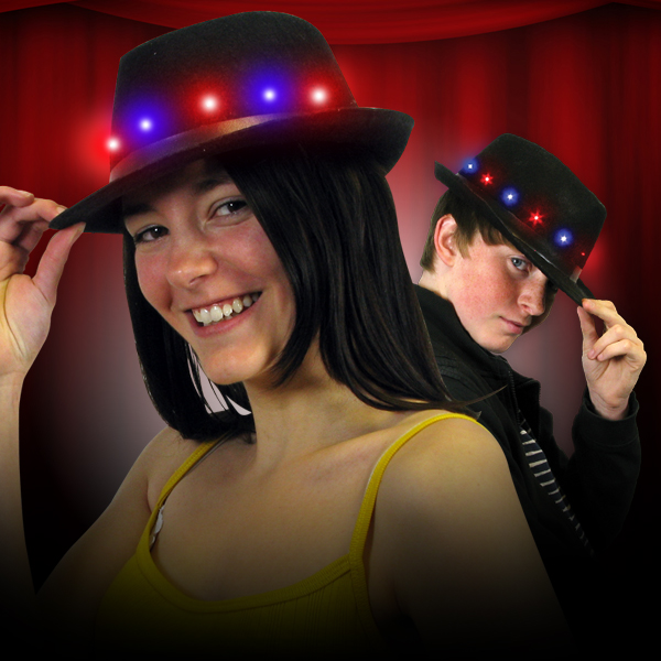 Click to view product details and reviews for Flashing Fedora Hat.