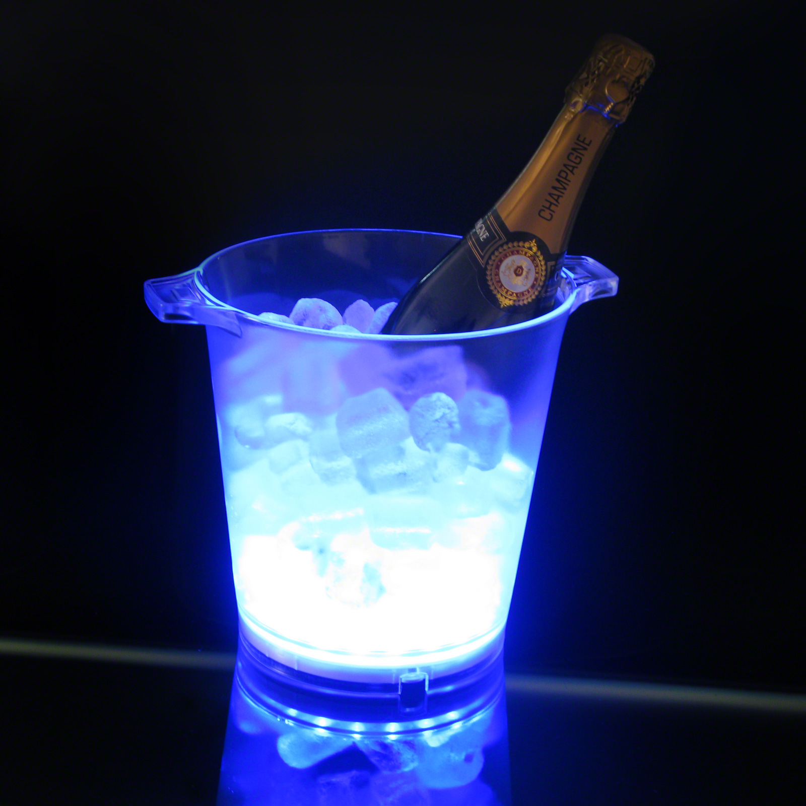 Click to view product details and reviews for Flashing Ice Bucket Blue.