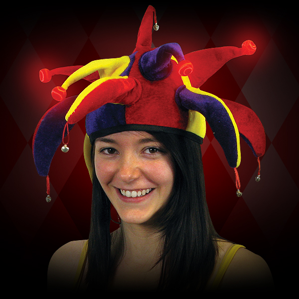 Click to view product details and reviews for Flashing Jester Hat.