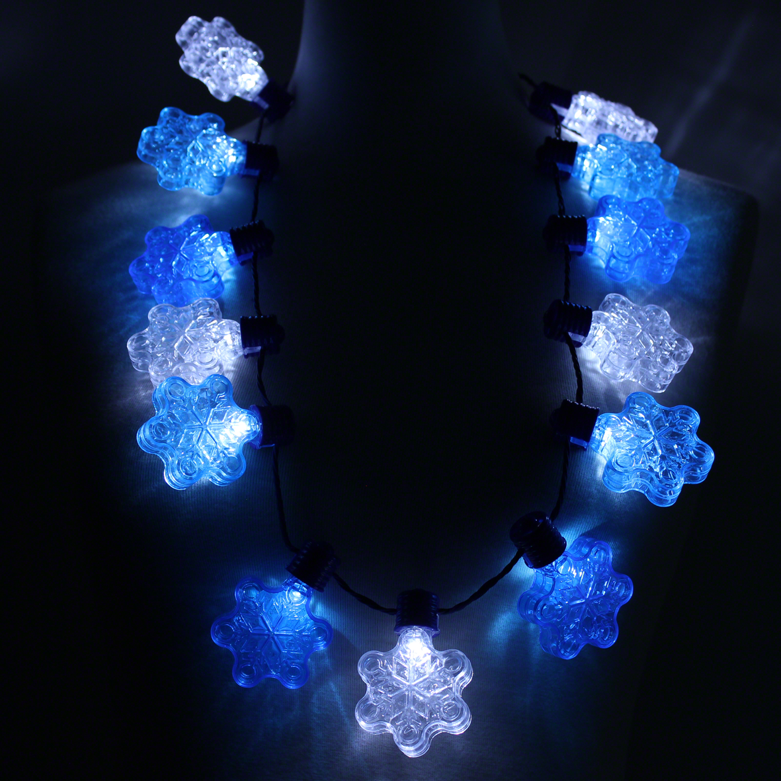 Click to view product details and reviews for Flashing Snowflake Necklace Wholesale.