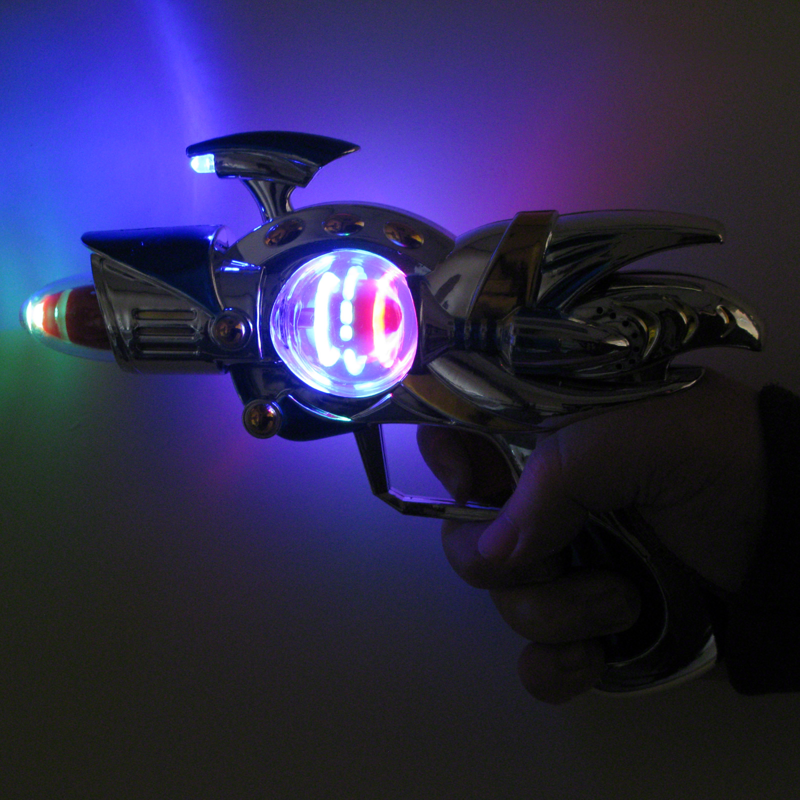 Click to view product details and reviews for Flashing Space Gun Large Wholesale.