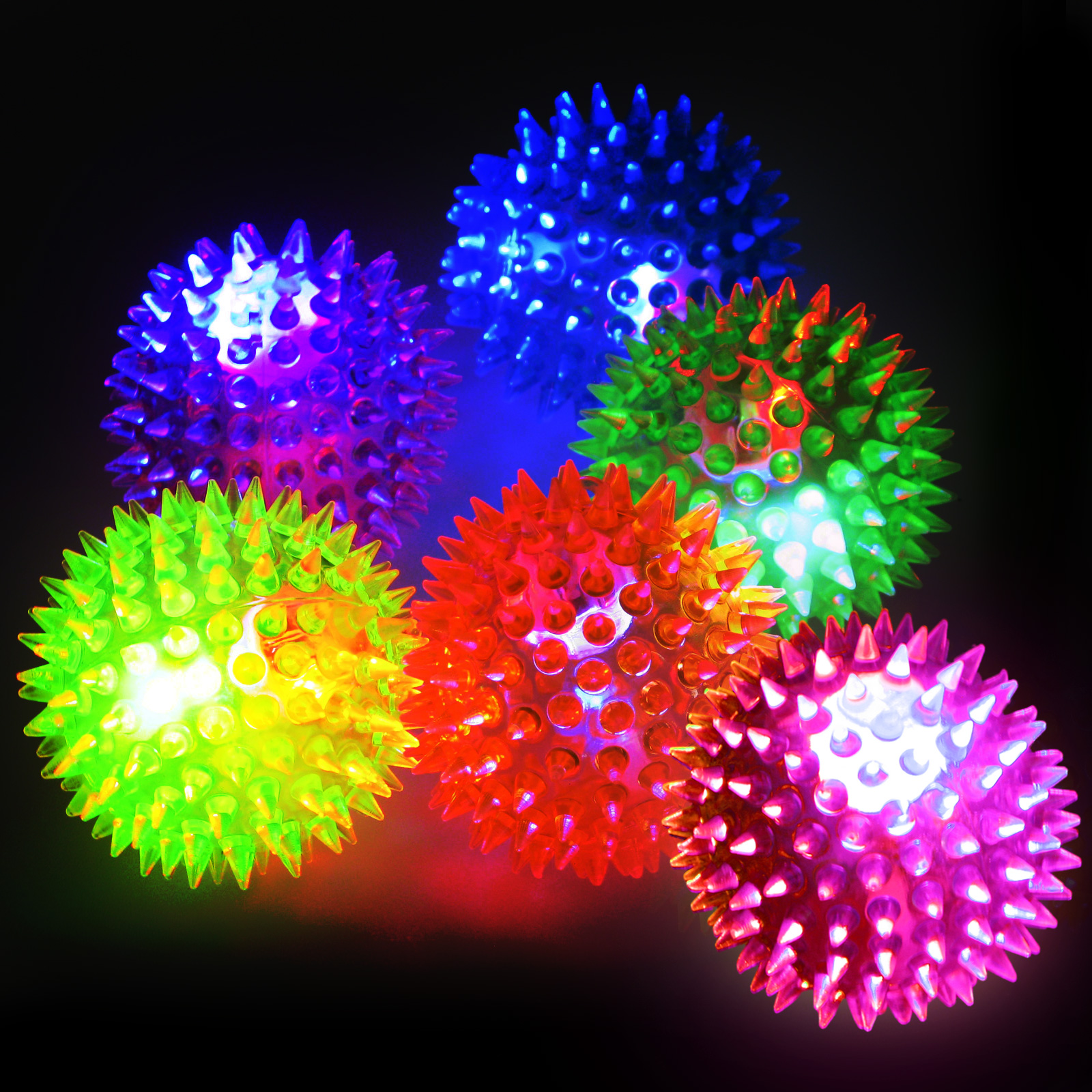 Click to view product details and reviews for Flashing Spikey Ball.