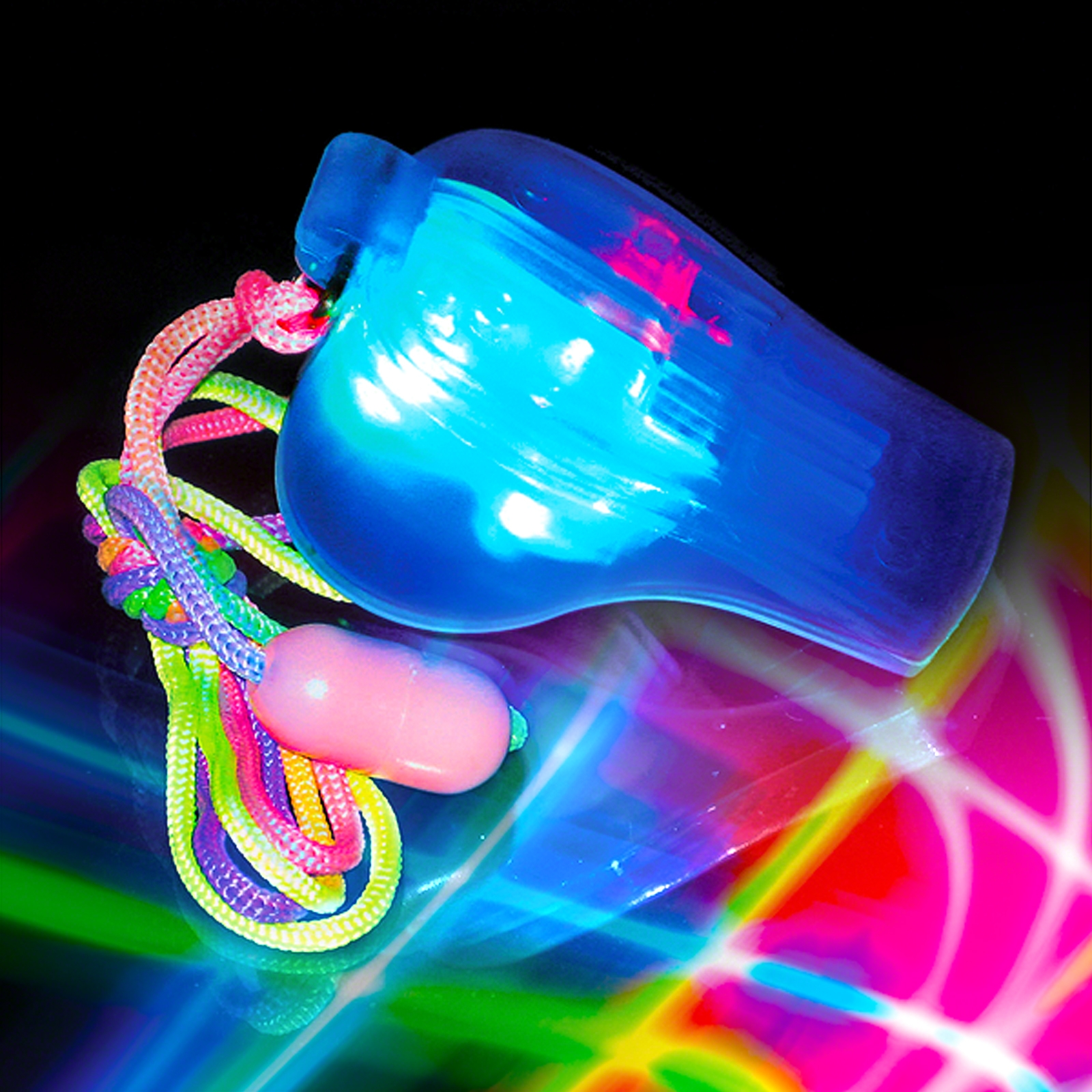 Click to view product details and reviews for Flashing Whistle.