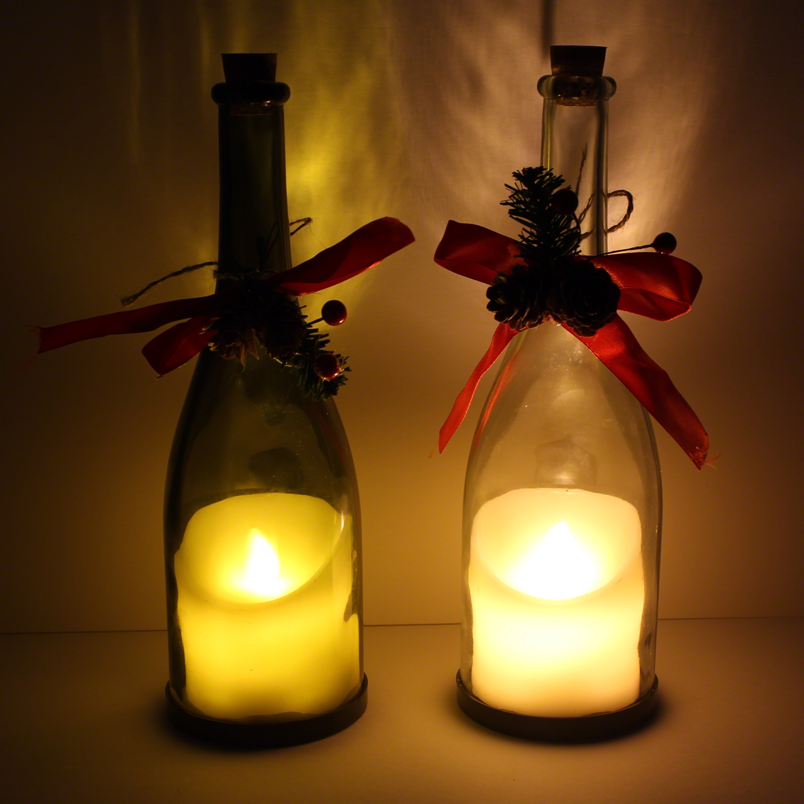Click to view product details and reviews for Flickering Candle In A Bottle Single.