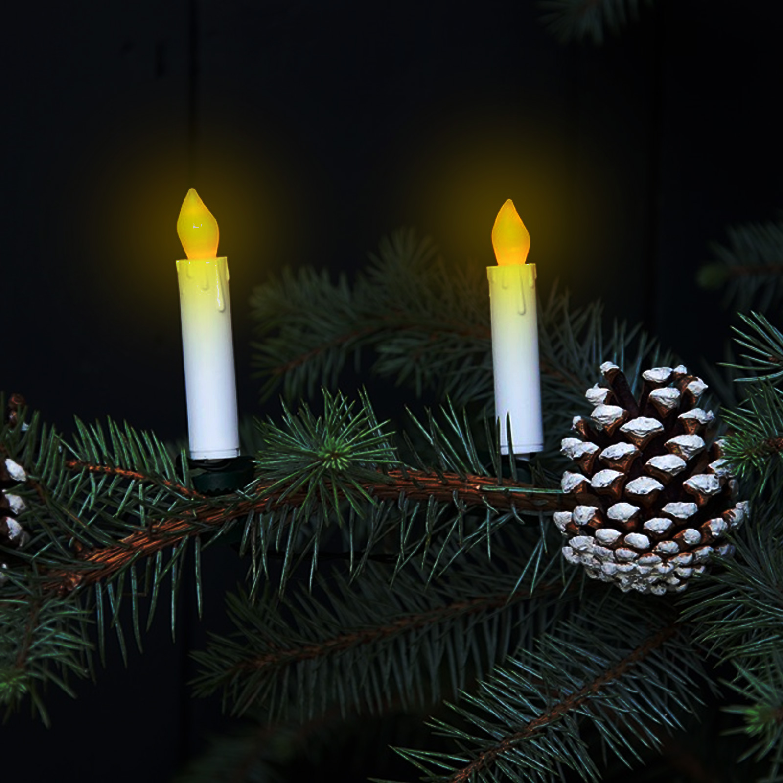Flickering Candle Tree Lights