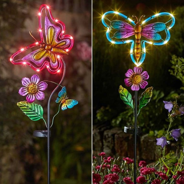 Solar Butterfly Dragonfly Stake Light