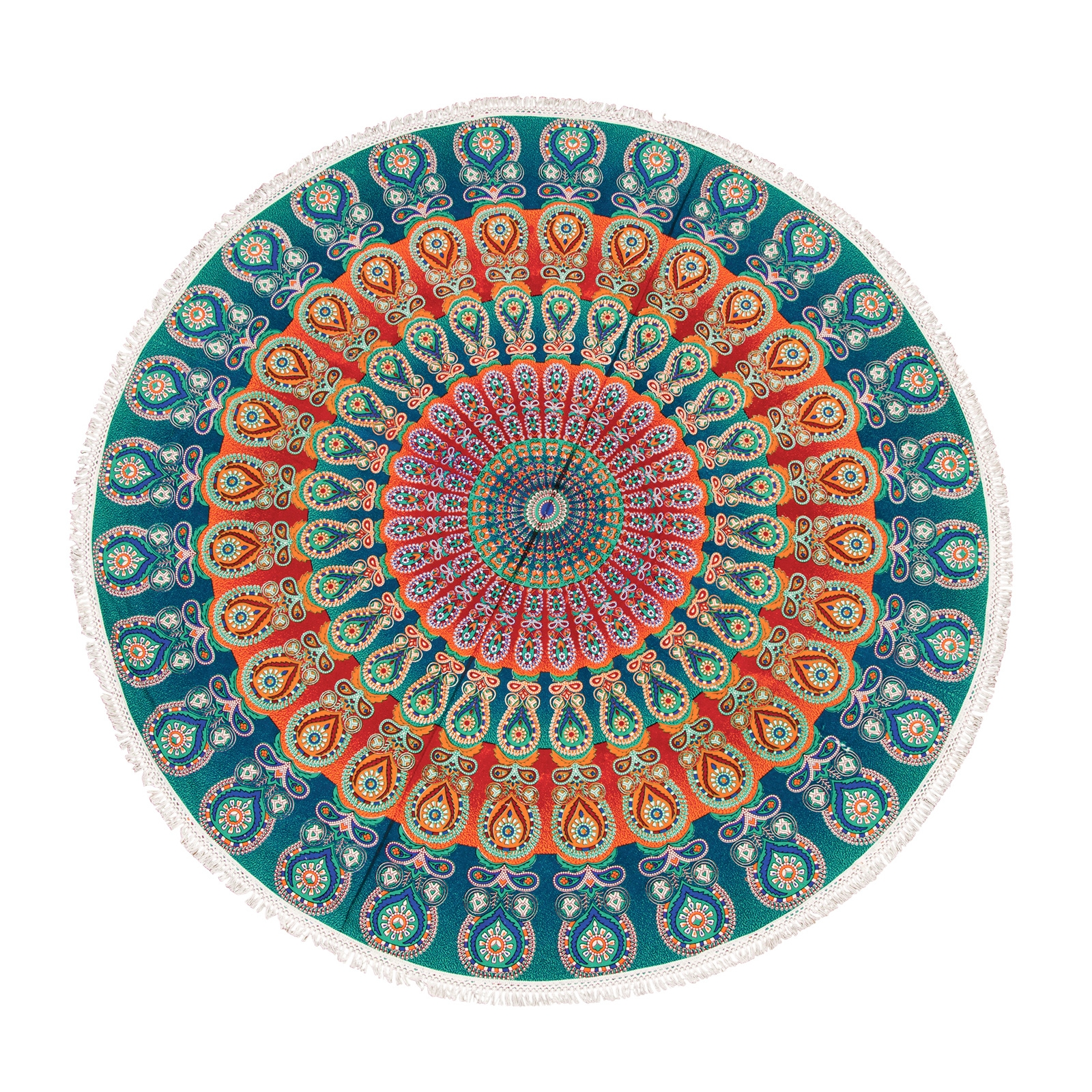 Click to view product details and reviews for Fringed Teal Beach Roundie.
