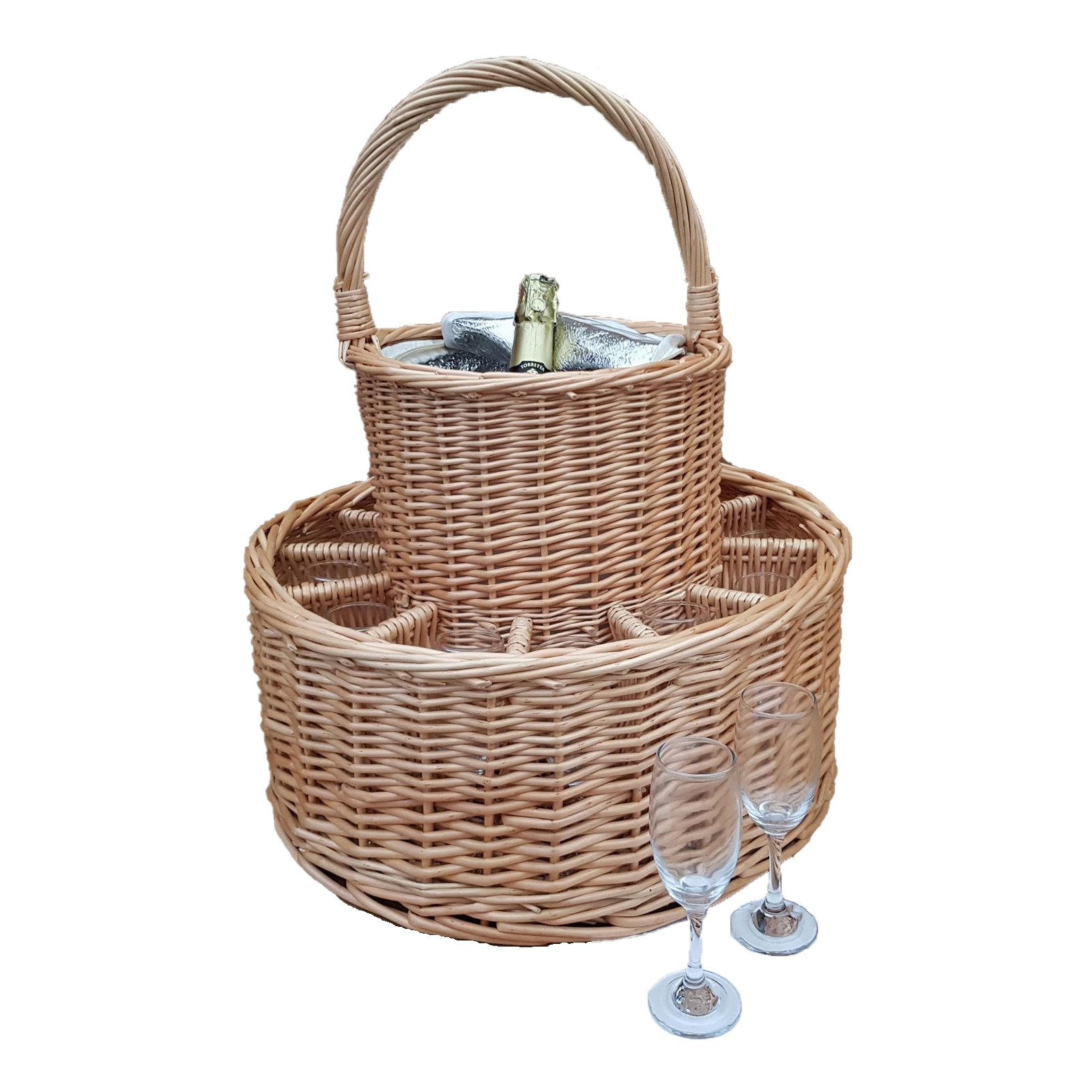 Click to view product details and reviews for Garden Party 12 Glass Basket With Cooler.