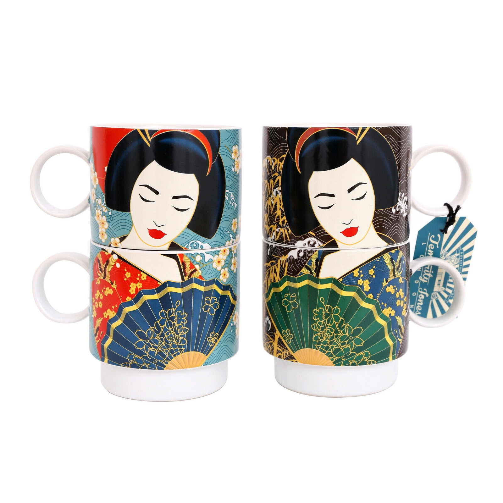 Click to view product details and reviews for Geisha Stacking Mugs.