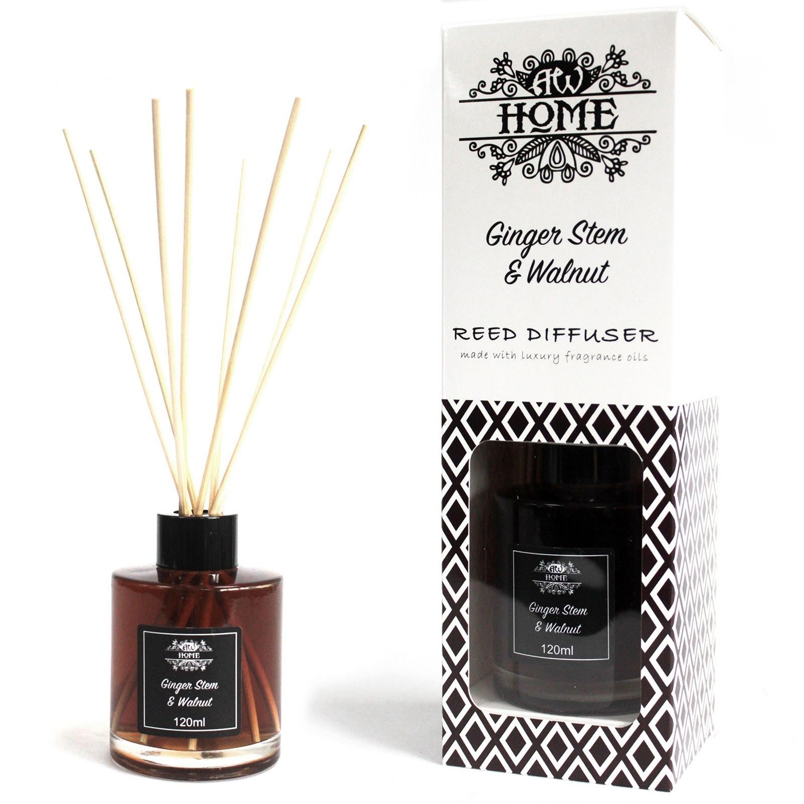 Ginger Stem And Walnut Reed Diffuser 120ml