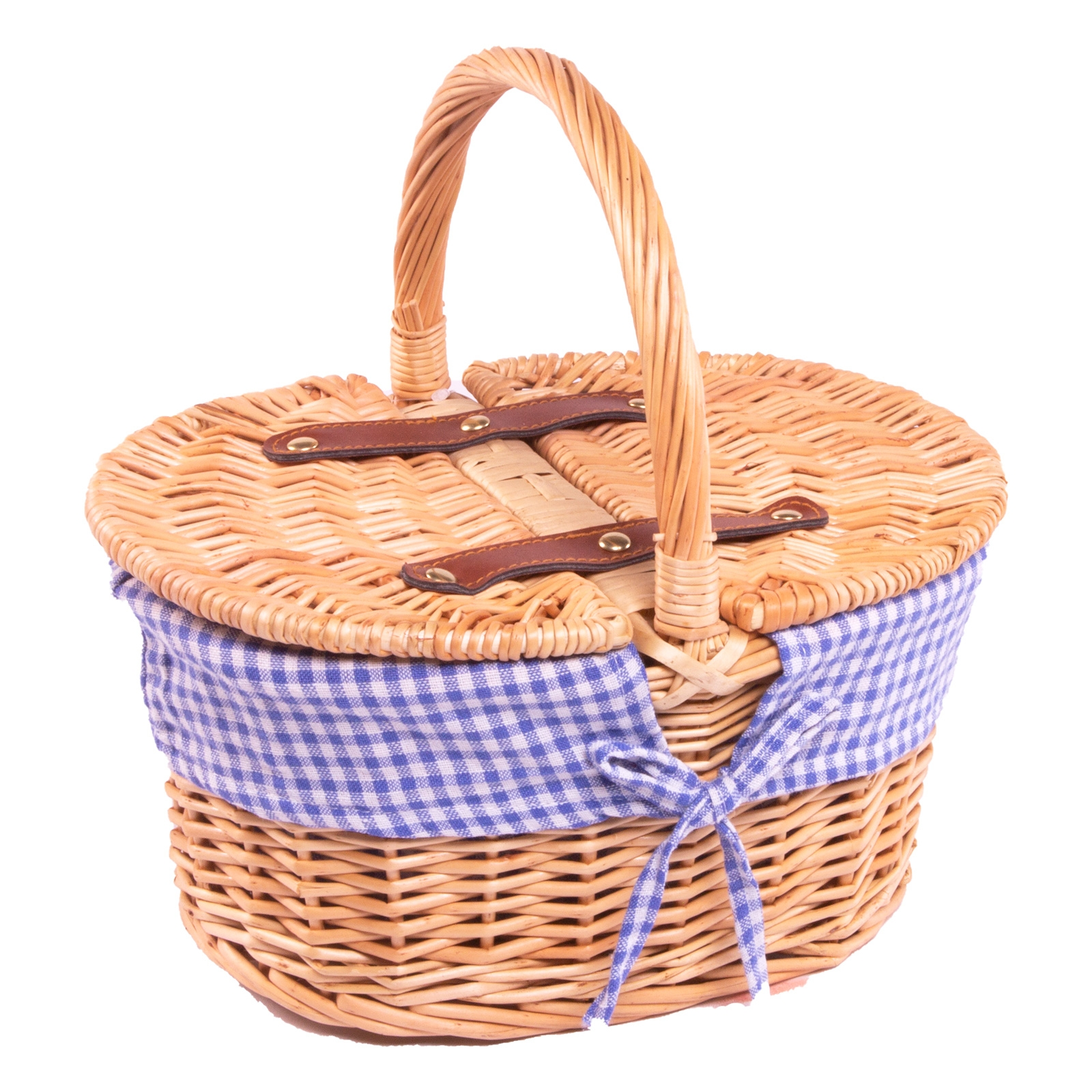 Click to view product details and reviews for Kids Gingham Picnic Basket.
