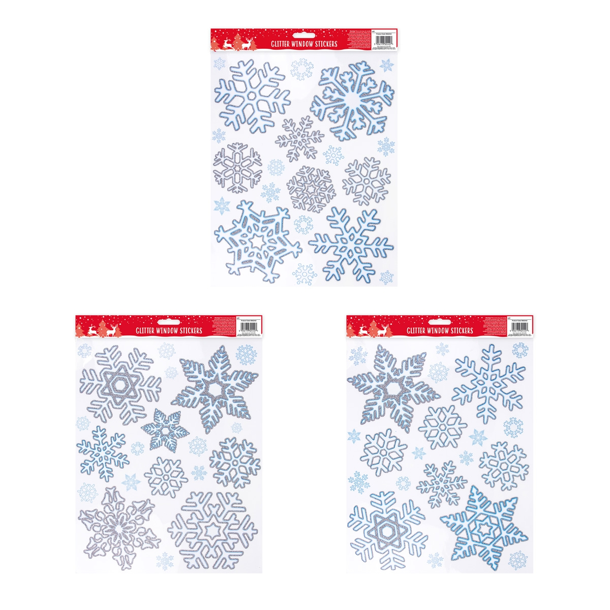 Click to view product details and reviews for Glitter Snowflake Window Sticker.