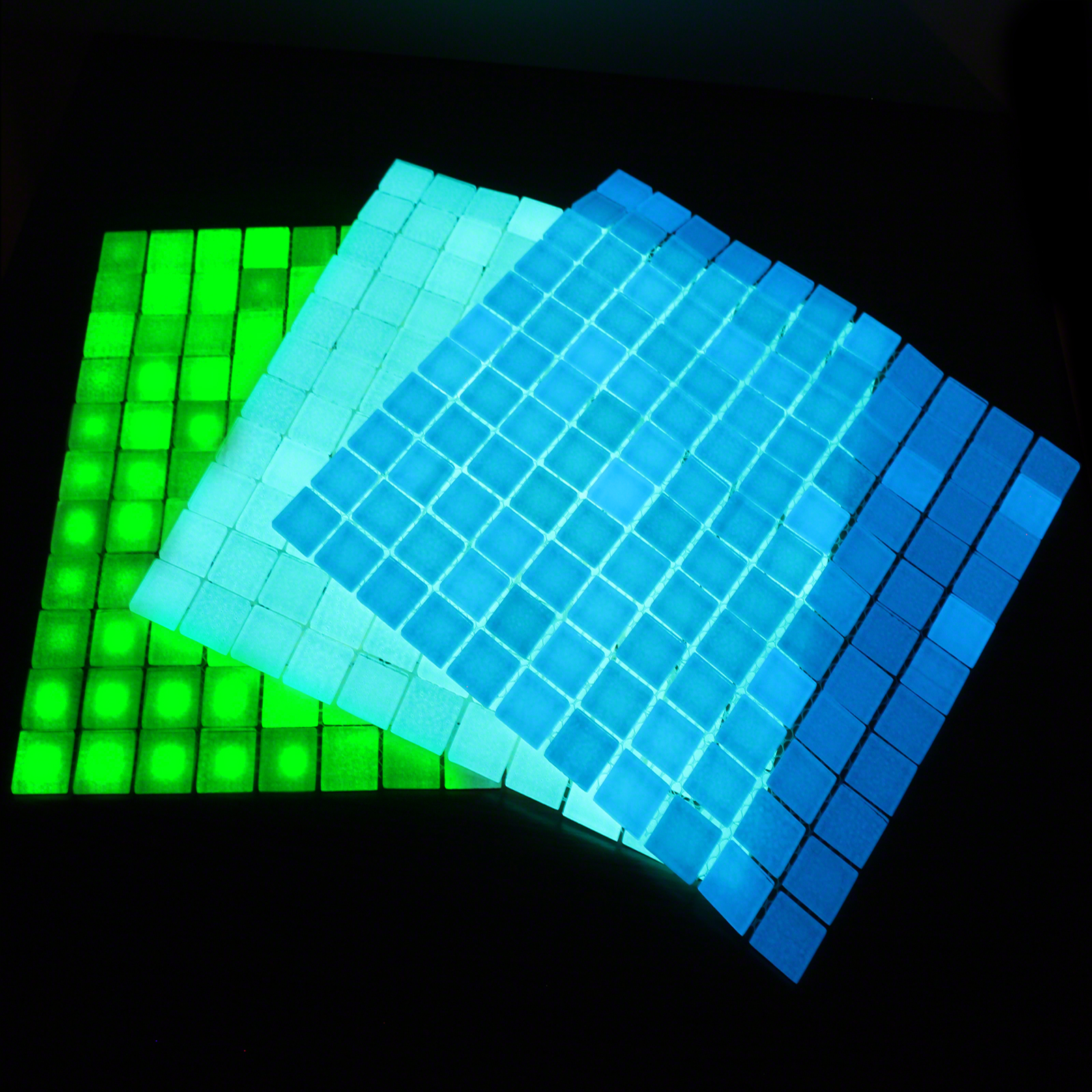 Click to view product details and reviews for Glow In The Dark Glass Tiles.