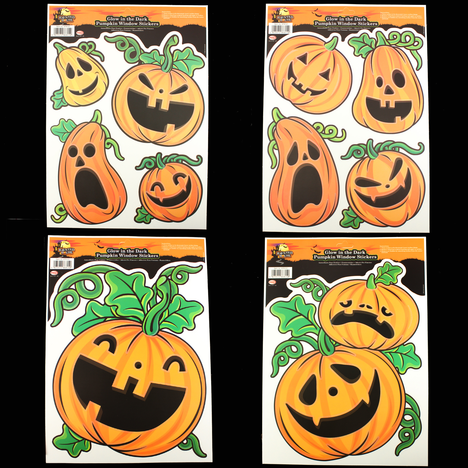 Click to view product details and reviews for Glow Pumpkin Window Stickers.