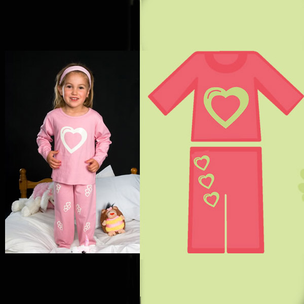 Click to view product details and reviews for Glow Pyjamas Heart.