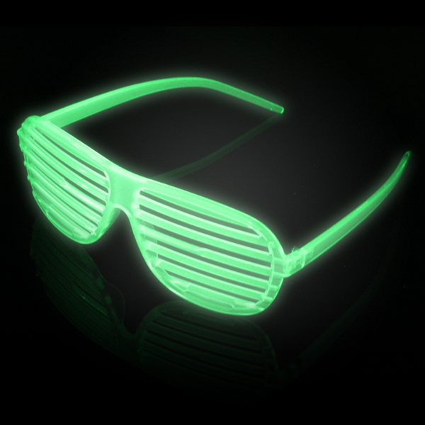 Click to view product details and reviews for Glow In The Dark Shutter Shades Wholesale.