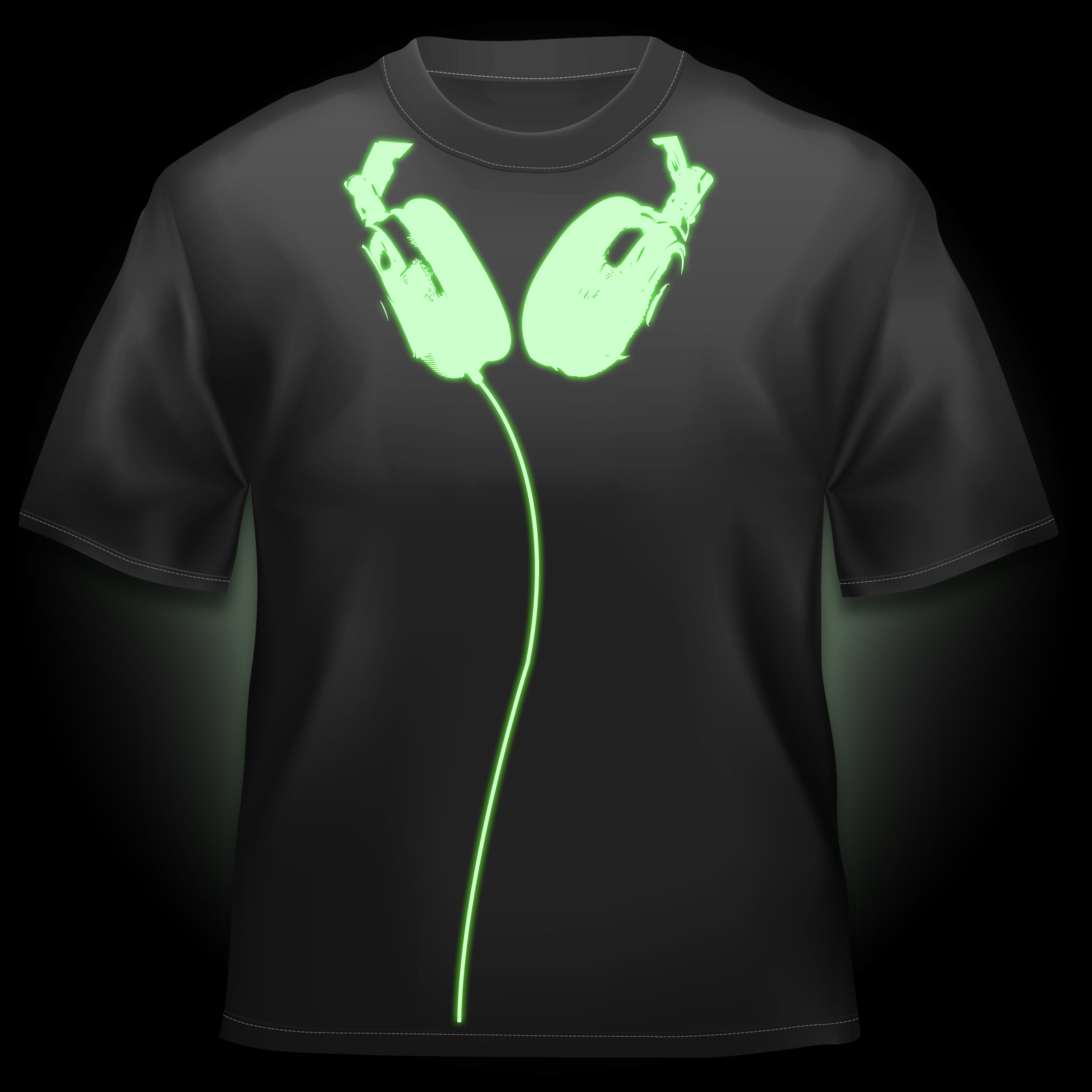 Click to view product details and reviews for Glow Headphones T Shirt.