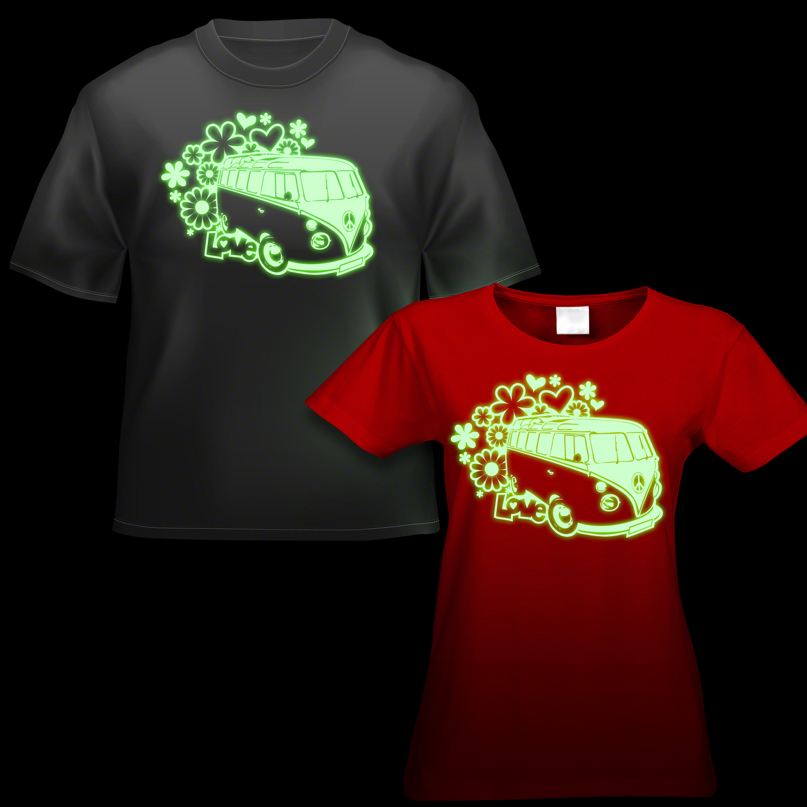 Glow Campervan T Shirt