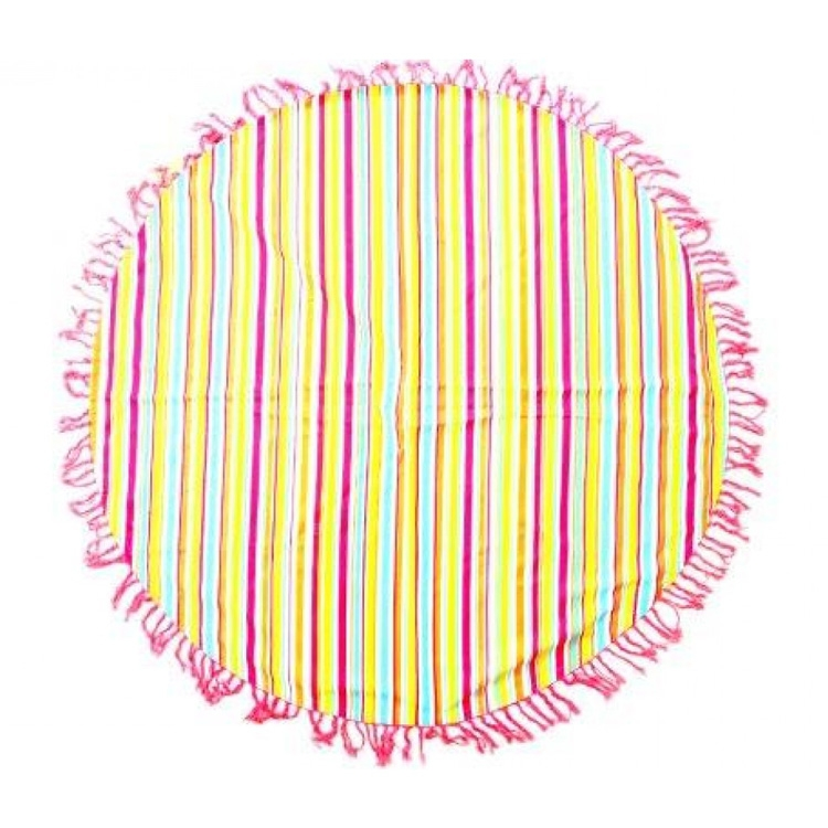 Click to view product details and reviews for Hammam Striped Roundie Towel Rug 150cm.