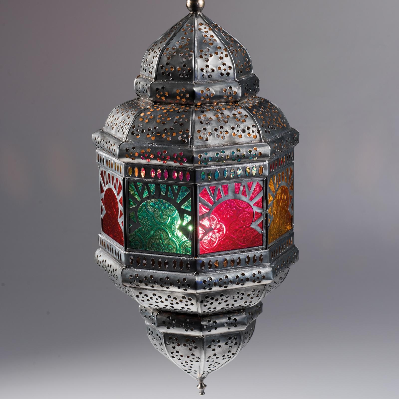 Large Colourful Hanging Lantern